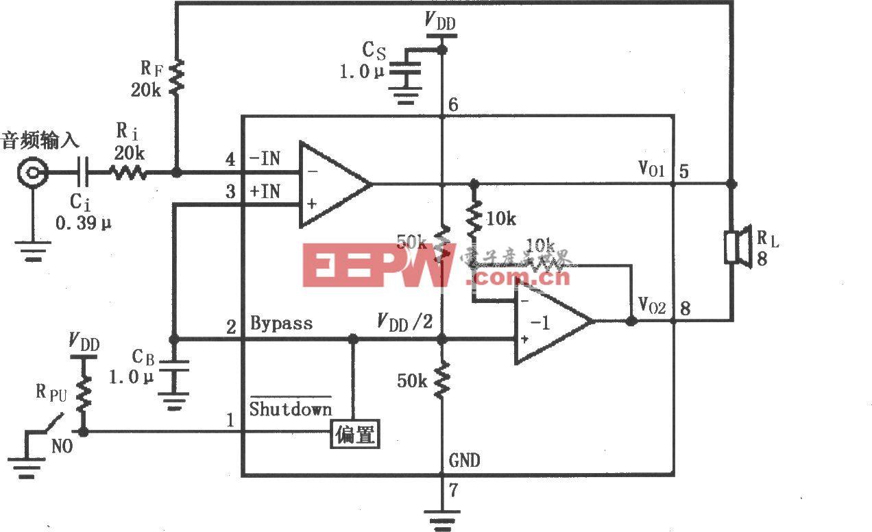 LM4902音頻功率放大電路(MSOP封裝)