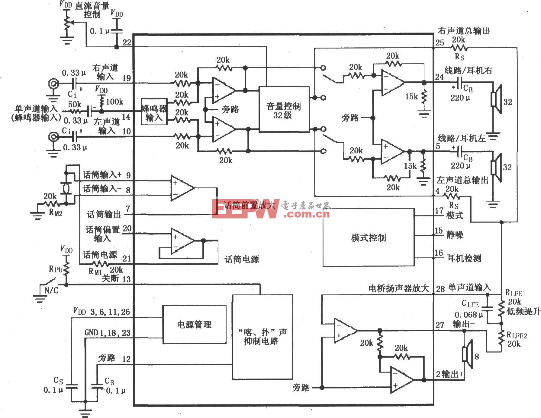 LM4834音频功率放大电路