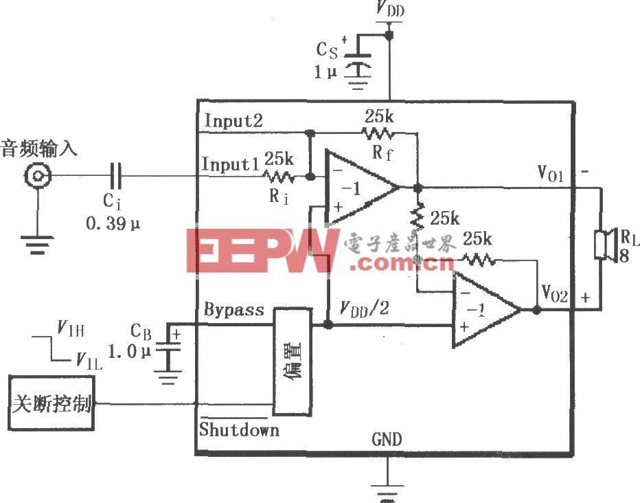 LM4820-6的音频功率放大电路