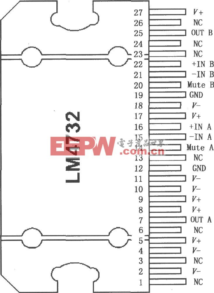 具有静音模式的立体声音频功率放大器LM4732