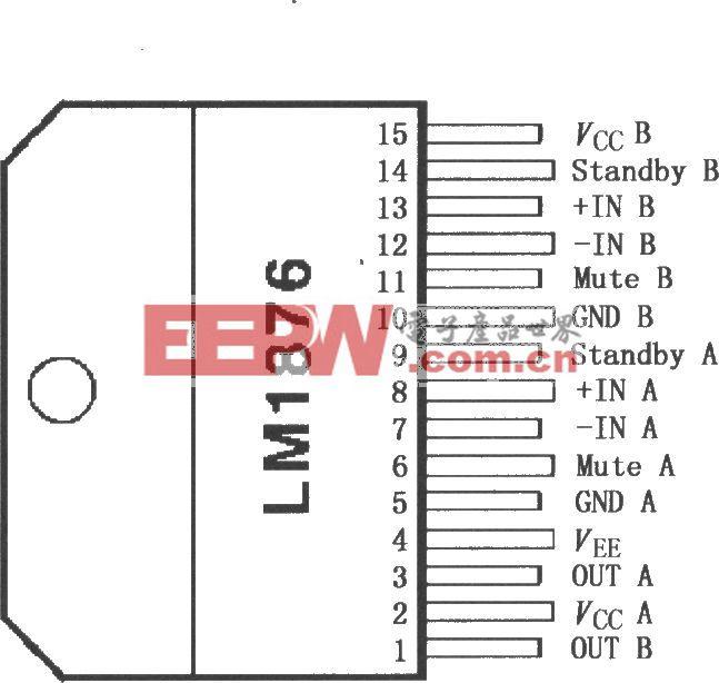 LM1876双20W音频功率放大器
