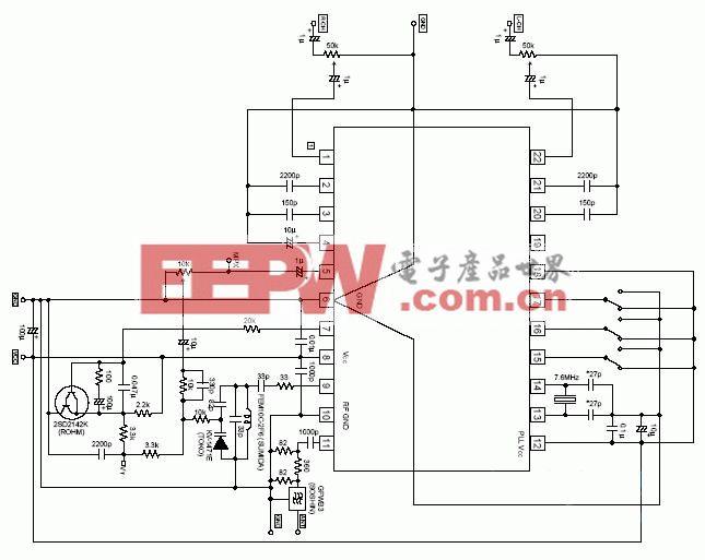 高保真无线立体声音箱电路图引脚功能图