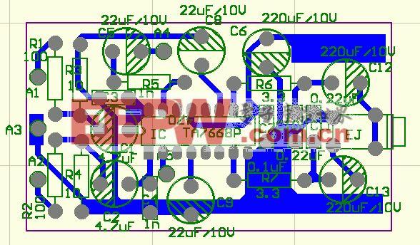 TA7668全景声音放大器电路