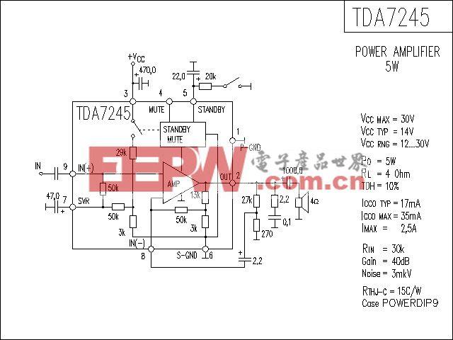TDA7245功放电路