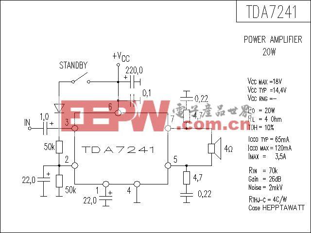 TDA7241功放电路