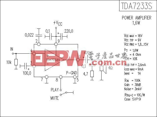 TDA7233S功放电路