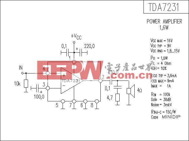 TDA7231功放电路