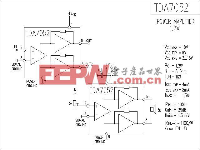 TDA7052功放电路