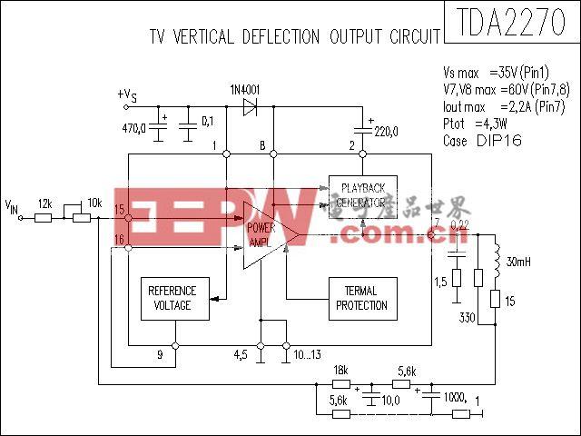 TDA2270功放电路