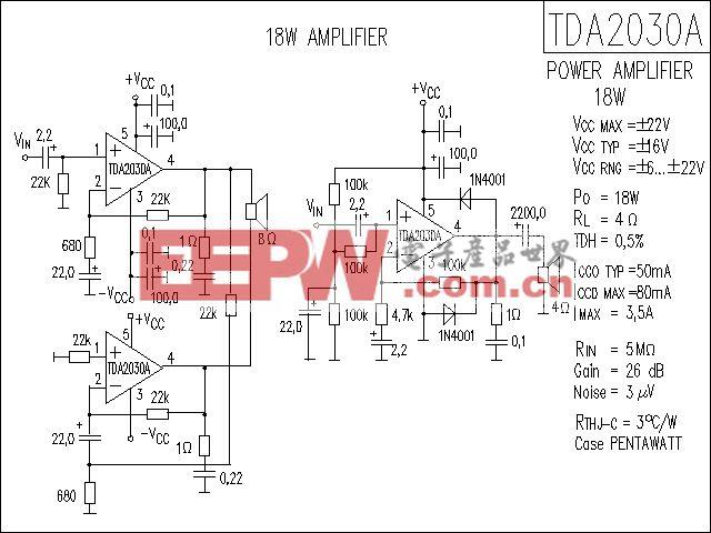 TDA2030A功放电路
