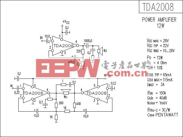 TDA2008功放电路