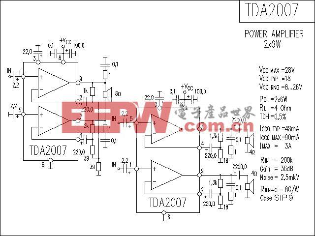 TDA2007功放电路