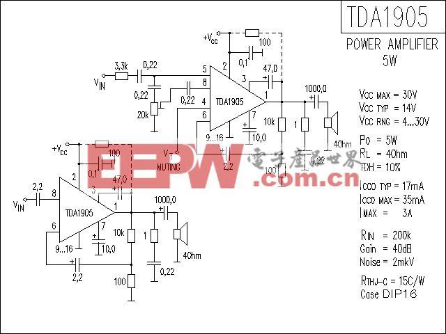 TDA1905功放电路