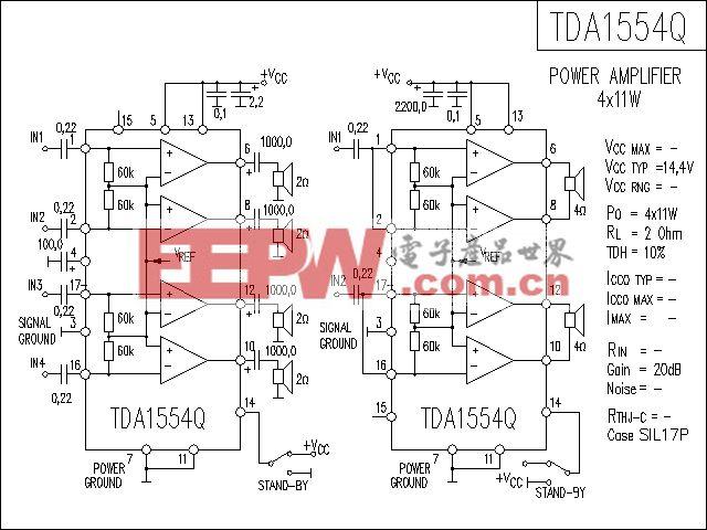 TDA1554Q功放电路