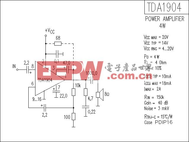 TDA1904功放电路