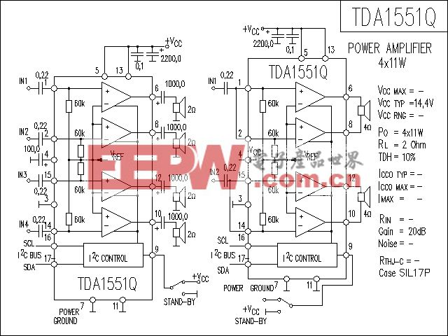 TDA1551Q功放电路