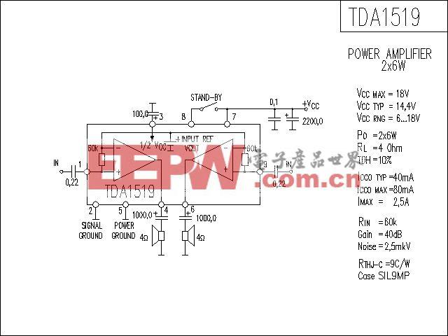 TDA1519功放电路