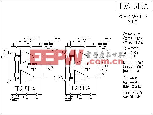 TDA1519A功放电路