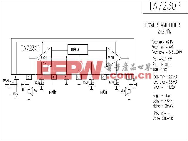 TA7230P功放电路
