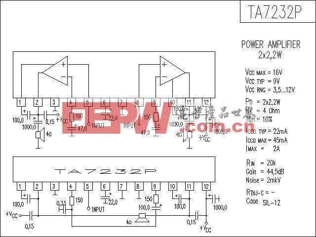 TA7232P功放电路