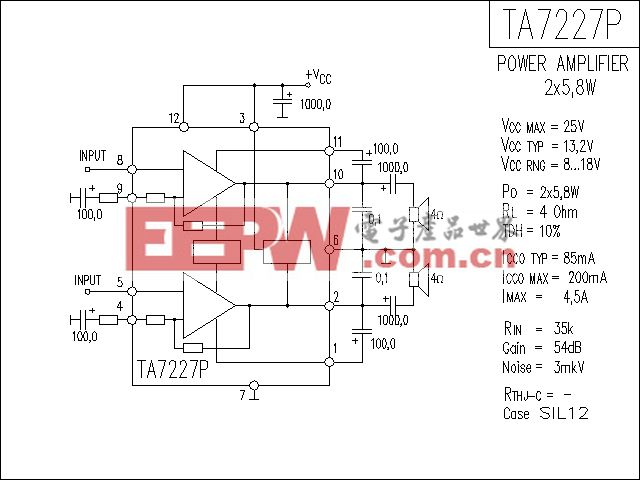 TA7227P功放电路