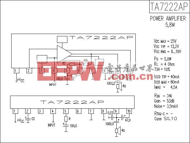 TA7222AP功放电路