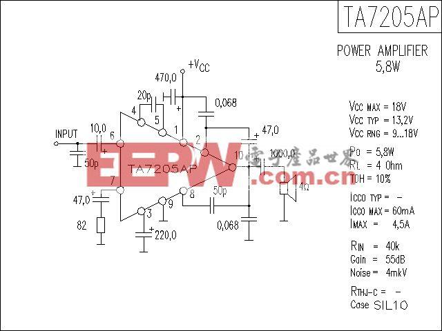 TA7205AP功放电路
