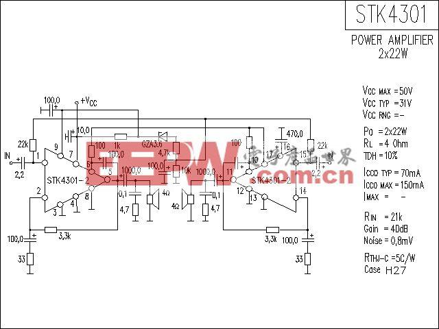 STK4301功放电路