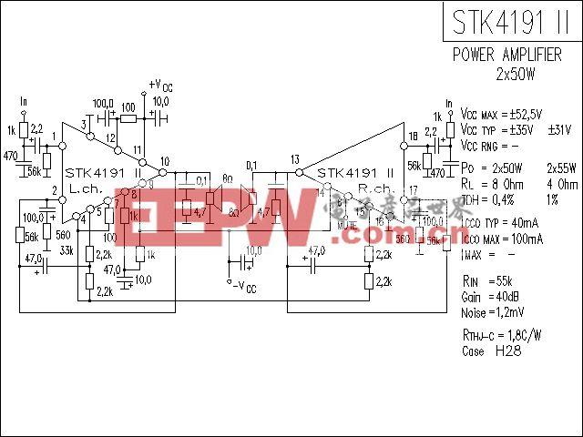 STK4191-2功放电路