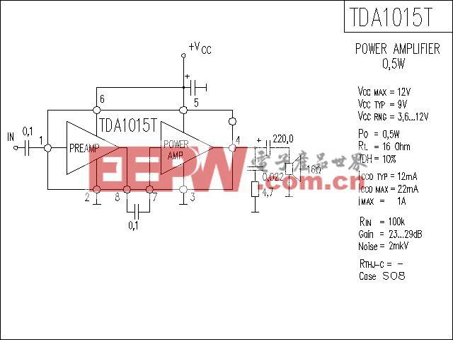 TDA1015T功放电路
