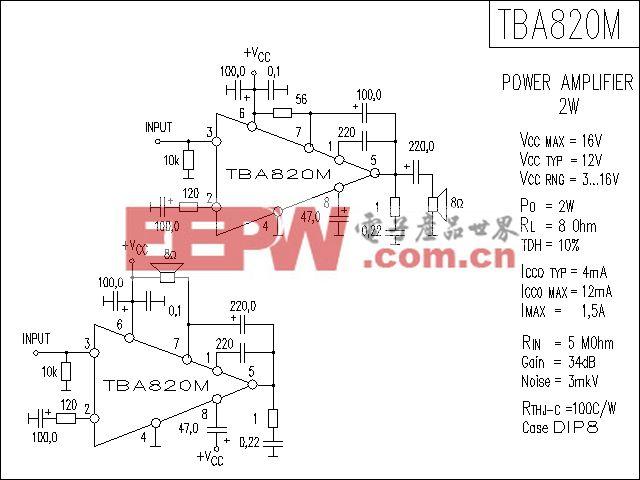 TBA820M功放电路