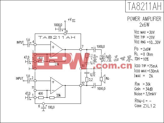 TA8211AH功放电路