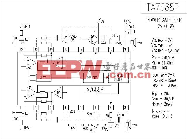TA7688P功放电路