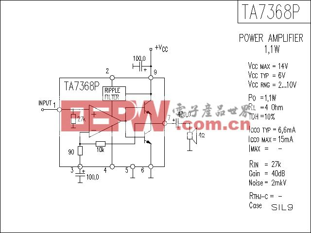 TA7368P功放电路