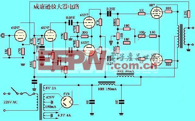 威廉逊电子管放大器电路(成品功放电路)
