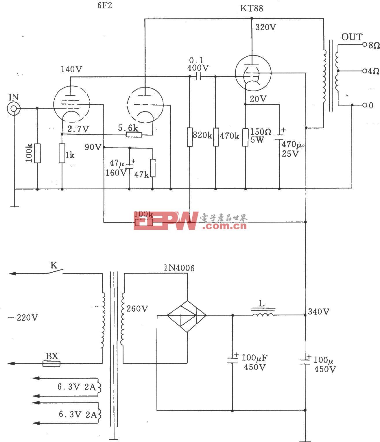 超三极电子管接法的单端A类功放