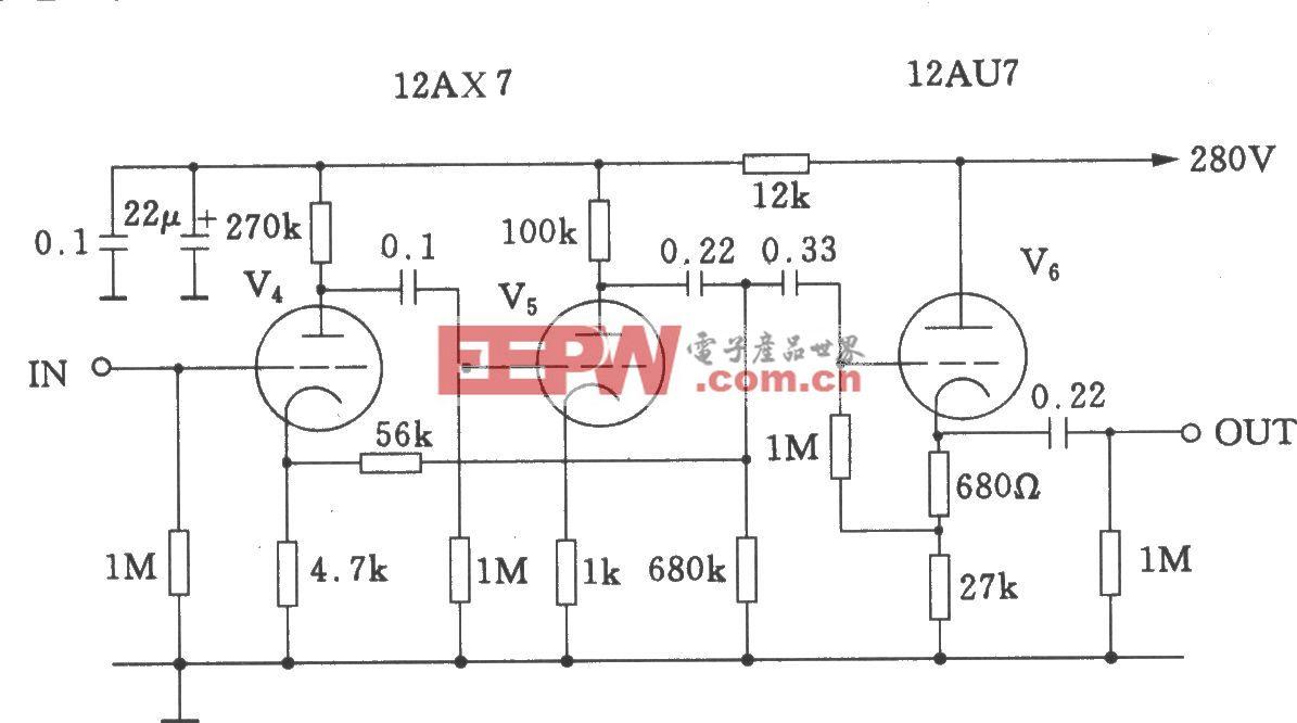 Marantz-7电子管线路放大与输出级