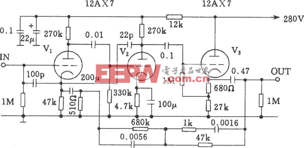 Mamn-7电子管前级均衡放大电路