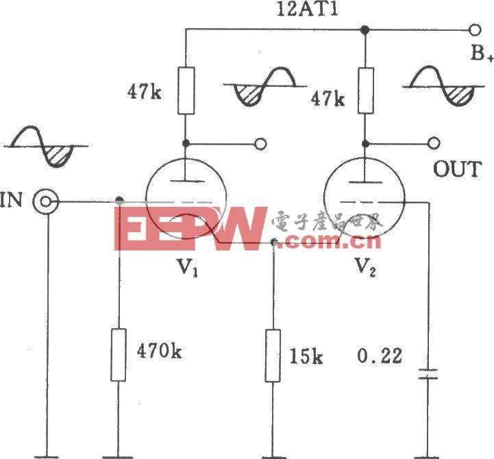 电子管差分式倒相电路
