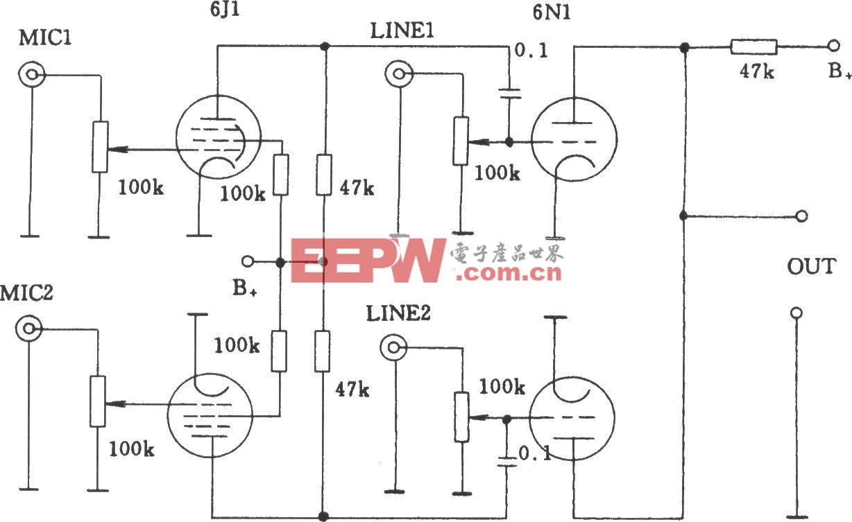 电子管多路音频混合电路2
