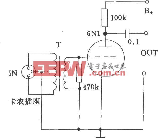 电子管低阻抗输入电压电路