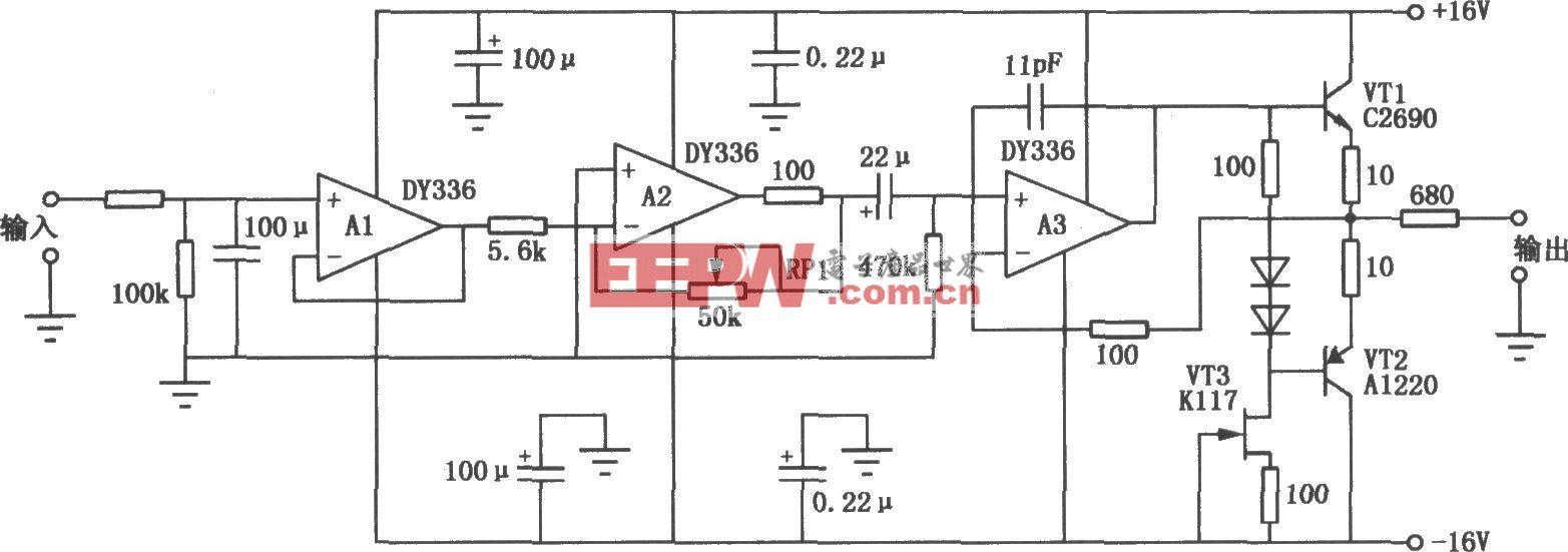 DY336组成的音响前级放大电路