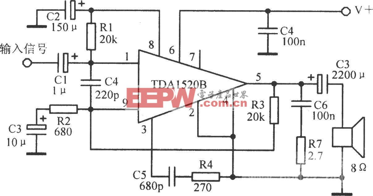 TDAl520B典型应用电路