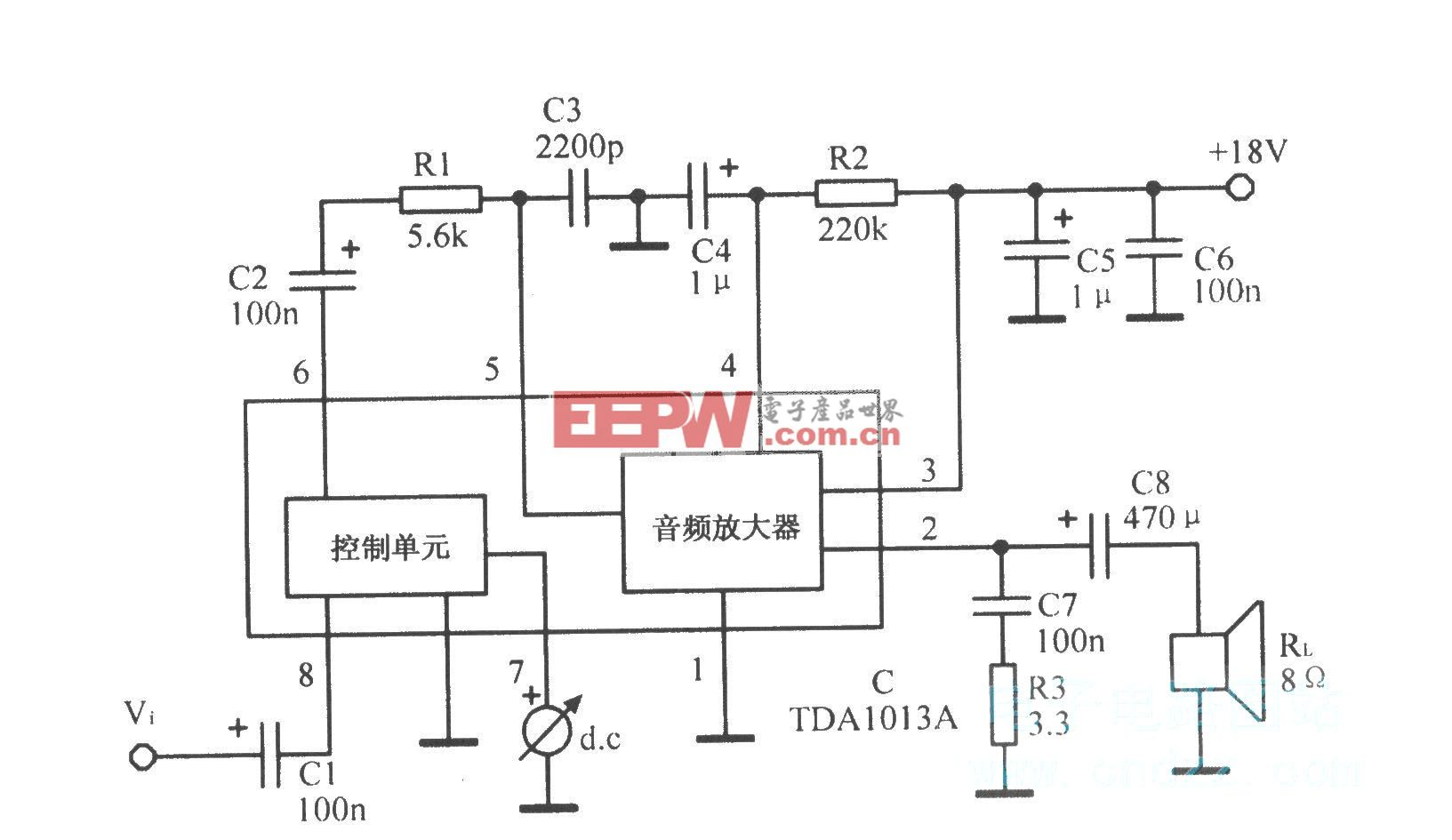 TDAl013A音頻放大集成電路