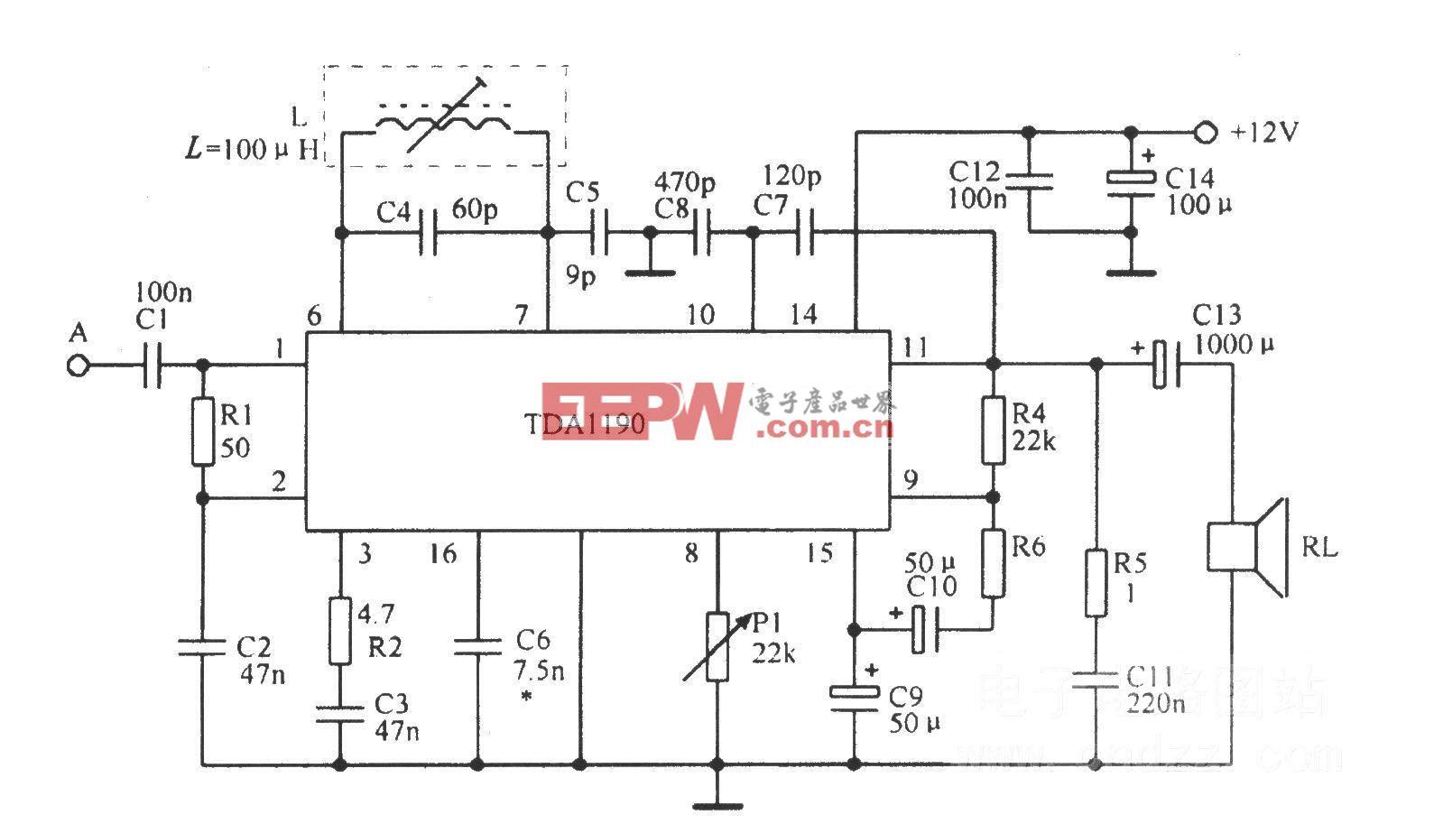 由TDAll90组成的实际电路