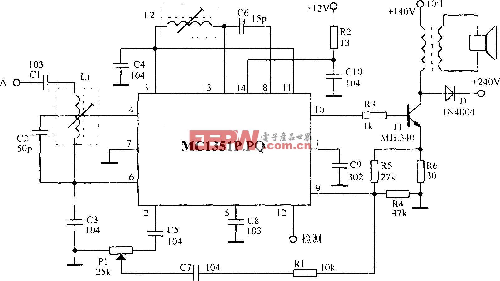 由MCl351组成的实际电路