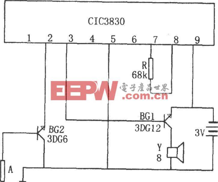 CIC3830構成的壓水井放水提醒器