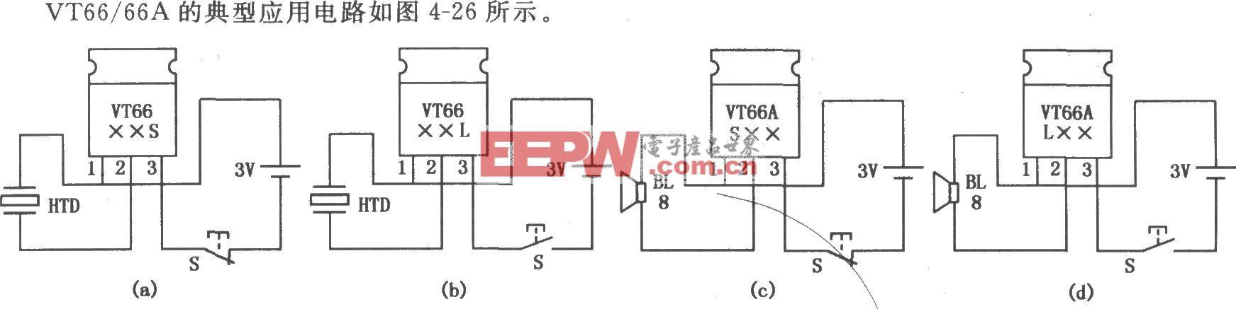 VT66/66A三极管型音乐集成电路