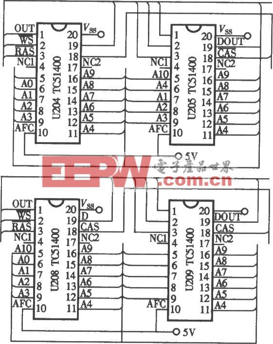 小霸王SB-818型复读机DRAM存储器电路