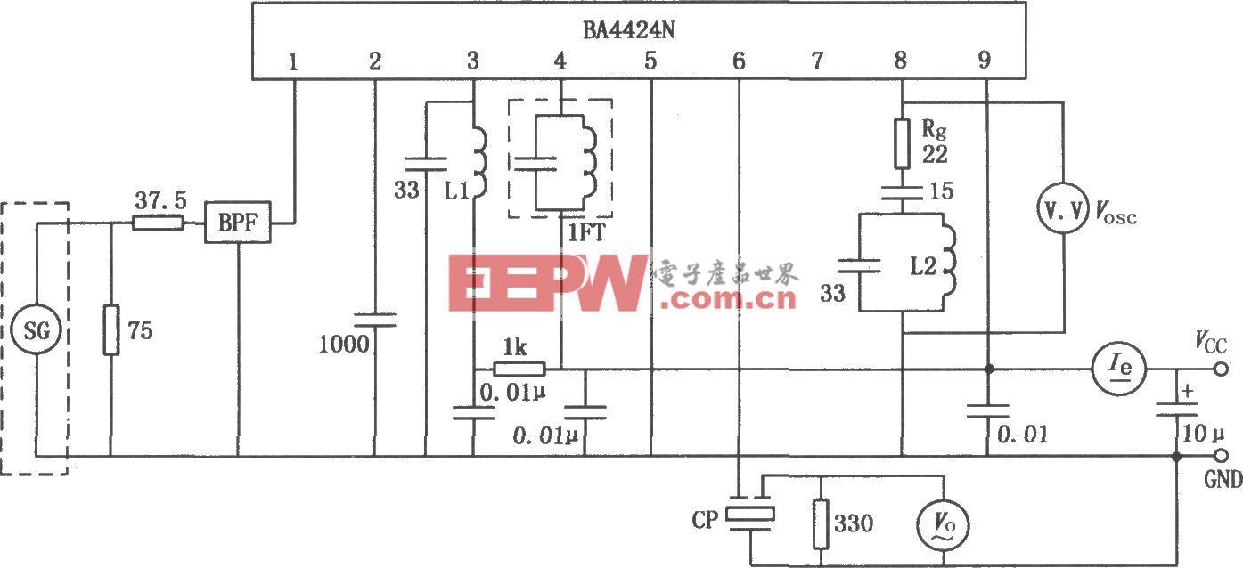 BA4424N FM收音机调谐器电路